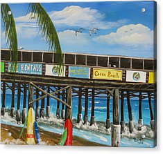 Surfs Up Acrylic Print by Bruce Reigle