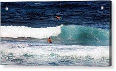 Surfs Up Acrylic Print by Elizabeth  Doran