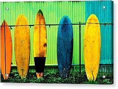 Surf's Up Acrylic Print by John Wong