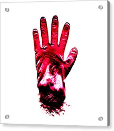Surgical Glove Acrylic Print by Kevin Curtis