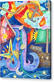 Surreal Seascape Acrylic Print by Kristen Fox
