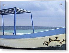 Acrylic Print featuring the photograph Surrealist Fishing Boat Riviera Maya Mexico by John  Mitchell