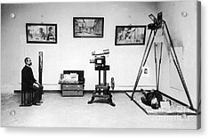 Surveillance Equipment, 19th Century Acrylic Print by Science Source