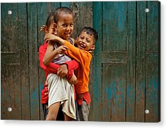 Survival Of The Fittest Acrylic Print by Valerie Rosen