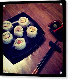 Sushi Acrylic Print by Pablo Grippo