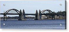 Suslaw Bridge Panorama Acrylic Print by Mary Gaines