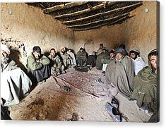 Suspected Taliban Detainees Held Acrylic Print