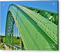 Acrylic Print featuring the photograph Suspension Bridge by Sherman Perry