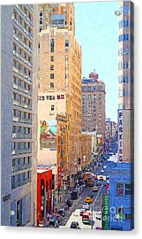 Sutter Street San Francisco Acrylic Print by Wingsdomain Art and Photography