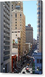 Sutter Street West View Acrylic Print by Wingsdomain Art and Photography