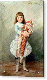 Suzanne Acrylic Print by Pierre Auguste Renoir