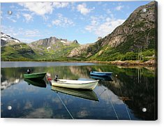Svolvær To Laukvik, Lofoten, Norway Acrylic Print by Anjci (c) All Rights Reserved