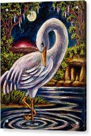 Swamp Crane Acrylic Print