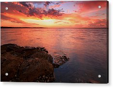 Swan Bay Sunset 2 Acrylic Print