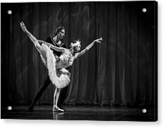 Swan Lake  White Adagio  Russia 3 Acrylic Print by Clare Bambers