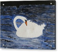 Acrylic Print featuring the painting Swan  by Sonali Gangane