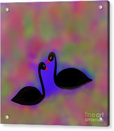 Acrylic Print featuring the digital art Swan Song by Latha Gokuldas Panicker
