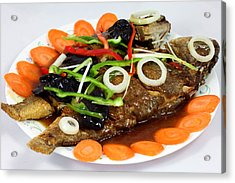 Sweet And Sour Fish Chinese Food Acrylic Print by Paul Ge