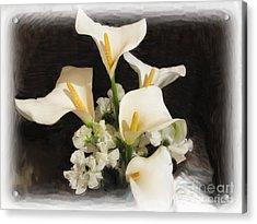 Sweet Calla Lilies Acrylic Print