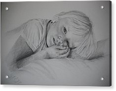 Acrylic Print featuring the drawing Sweet Dreams by Lynn Hughes