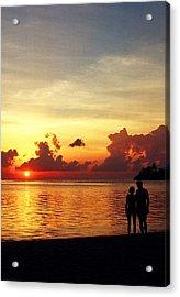 Sweet Golden Memory. Maldives Acrylic Print by Jenny Rainbow