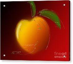 Sweet Peach 1 Acrylic Print by Andee Design