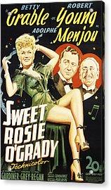 Sweet Rosie Ogrady, Betty Grable Acrylic Print by Everett