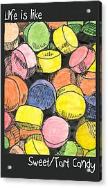Acrylic Print featuring the drawing Sweet Tart Candy by Ana Tirolese