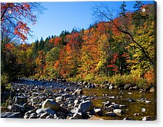 Swift River In Autumn Acrylic Print