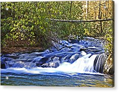 Acrylic Print featuring the photograph Swiftly Flowing River by Susan Leggett