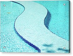 Swimming Pool Acrylic Print by Dogra Exposures