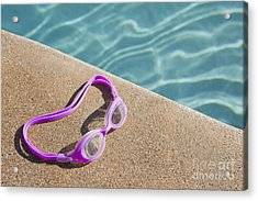 Swimming Pool Side Acrylic Print by Bryan Mullennix