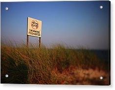 Swimming Prohibited Acrylic Print by Rick Berk
