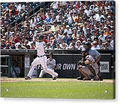 Swing And Hit Acrylic Print by Cindy Lindow