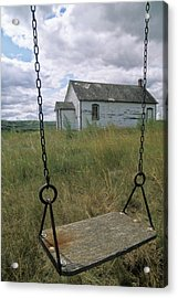 Swing At Old School House, Quappelle Acrylic Print by Dave Reede