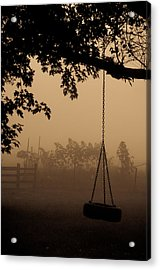 Acrylic Print featuring the photograph Swing In The Fog by Cheryl Baxter