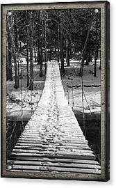 Swinging Cable Foot Bridge Acrylic Print by John Stephens