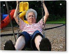 Swinging Grandmother 11 Acrylic Print