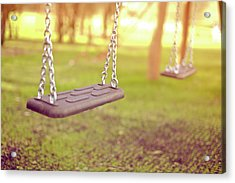 Swings In Park Acrylic Print by Rob Webb