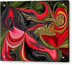 Swirled Garden 1 Acrylic Print
