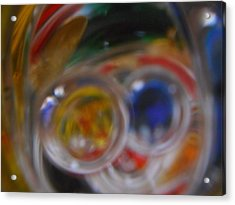 Swirling Colors Acrylic Print