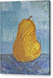 Swirling Pear Acrylic Print by Wayne Potrafka