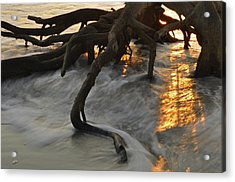 Swirling Sunrise On Jekyll Island Acrylic Print