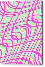 Swirly Check Acrylic Print