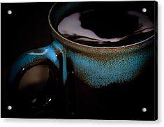 Swirly Coffee In The Dark  Acrylic Print