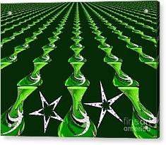 Swirly Green Links Acrylic Print by Jeannie Atwater Jordan Allen