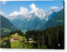 Swiss Alps Acrylic Print by Thomas Lottermoser