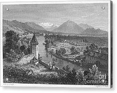 Switzerland: Thun, 1833 Acrylic Print by Granger