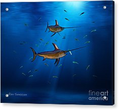 Swordfish Moon Acrylic Print by Alex Suescun
