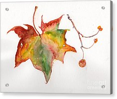 Acrylic Print featuring the painting Sycamore Fall by Doris Blessington